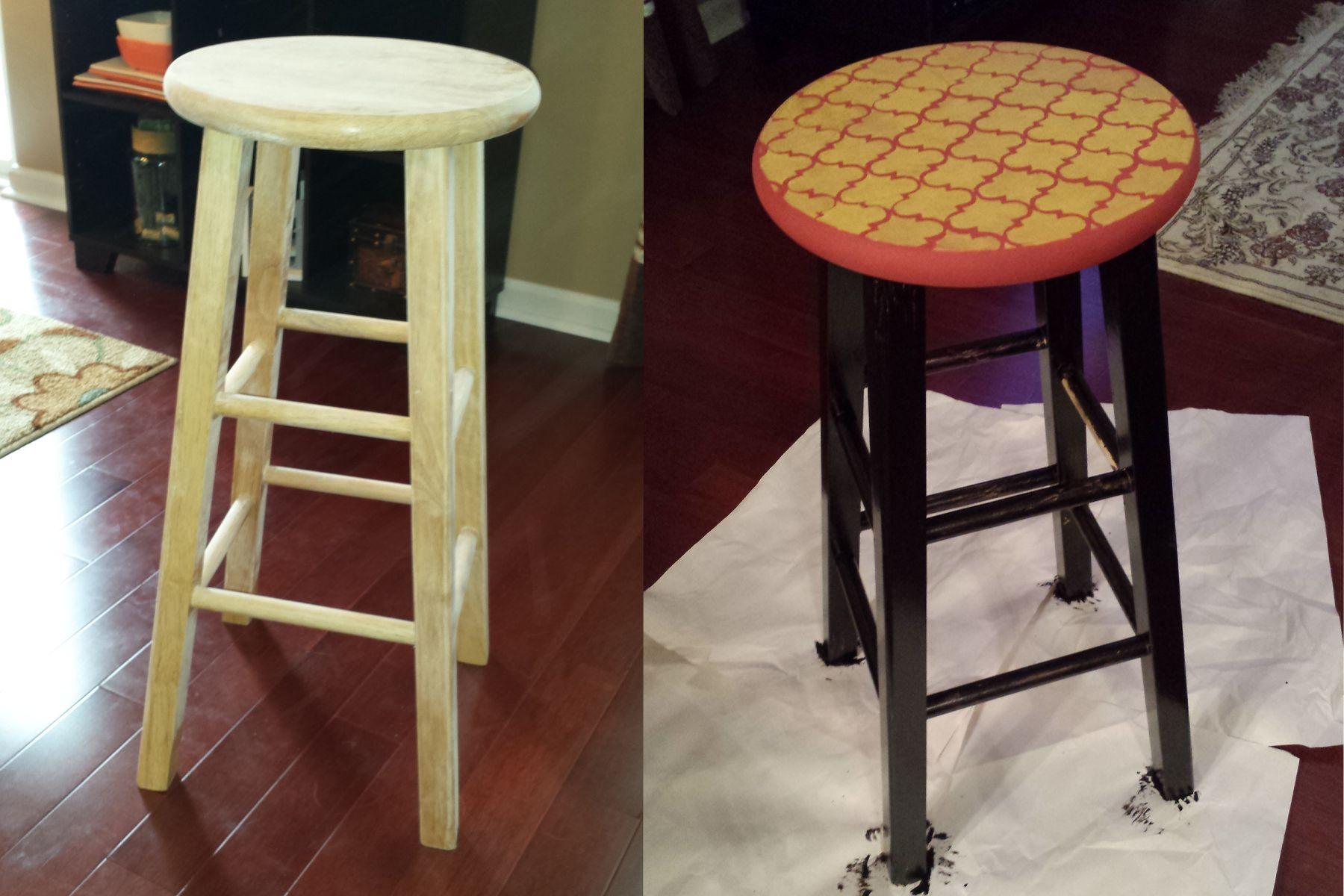 $15 bar stool gets a makeover