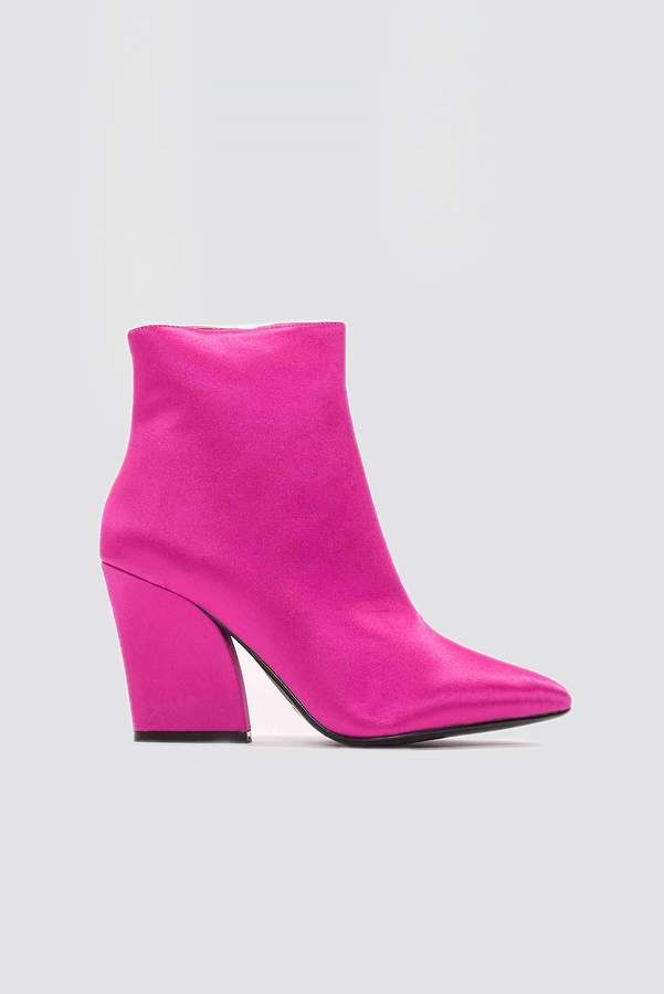6444d99b2c Satin Mid Heel Boots | My Style | Heeled boots, Boots, Shoes