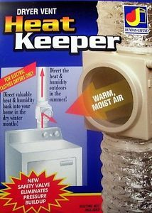 Heat Keeper Saver Clothes Dryer Vent Duct Diverter