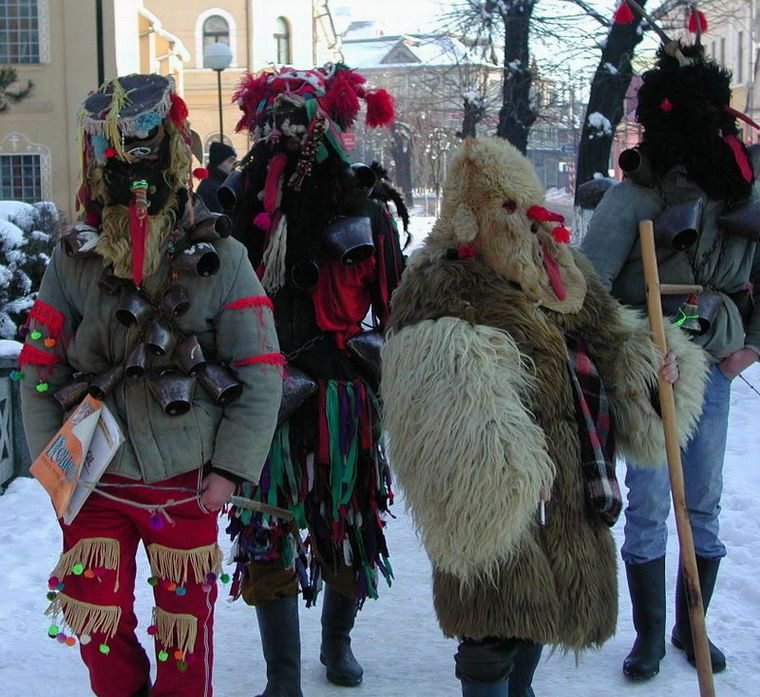 """For the greatest winter spectacle, head to Romania's north-western corner, in Maramures County on the 27-th of December when the """"Winter Customs Festival"""" takes place in Sighetu Marmatiei."""