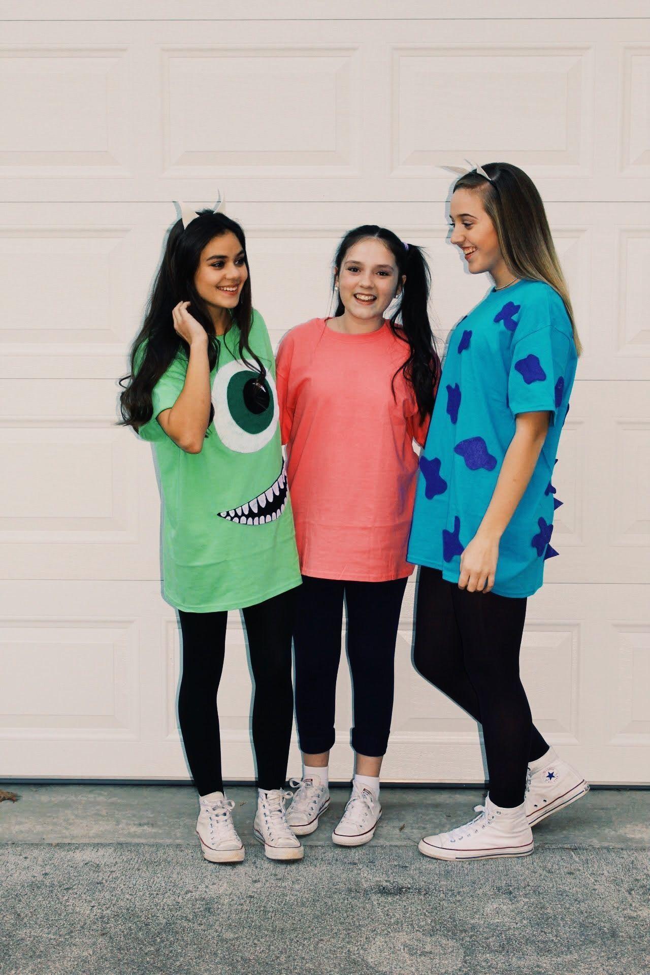 Trio Halloween Costumes 2020 grouphalloweencostumes #bffhalloweencostumes