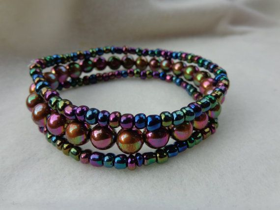 Chromeleon Bracelet Set by MyBelleOriginals on Etsy, $10.00