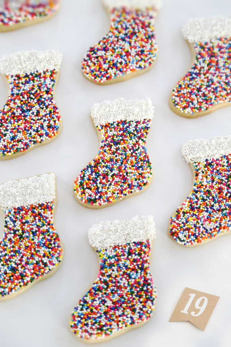 Gift This! Sprinkle Stocking Sugar Cookies
