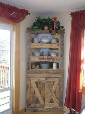 Corner Hutch Kitchen Farmer Sink In 2019 Western Decor Another Great Idea To Utilize Space Your Home Dimensions 24x84 Inches Can Be Made The Size That Fits Needs