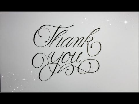 How To Write Thank You In Fancy Cursive