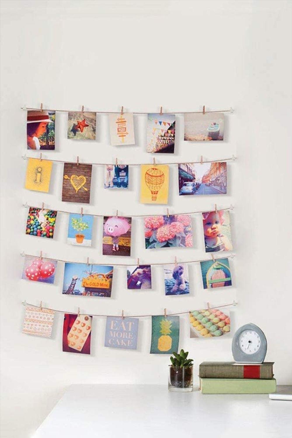 Fotoseil Kreative Diy Wanddekoration Spurlos Ohne Nägel Fotos Aufhängen Bilderwand Gestalten Memory Wand