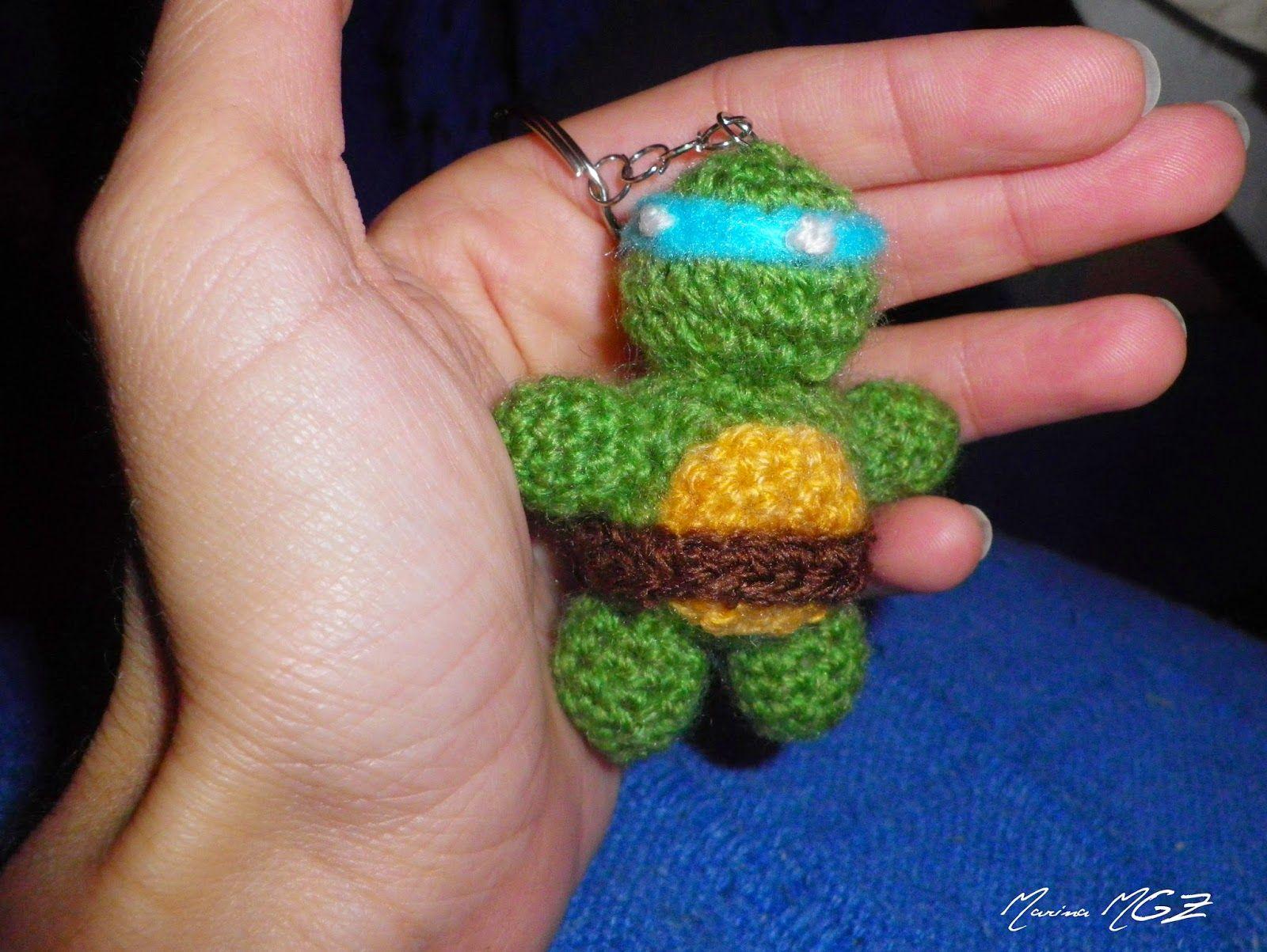 Amigurumis Pequeños Para Llaveros : Zita y bolita llavero de tortuga ninja amigurumis en español