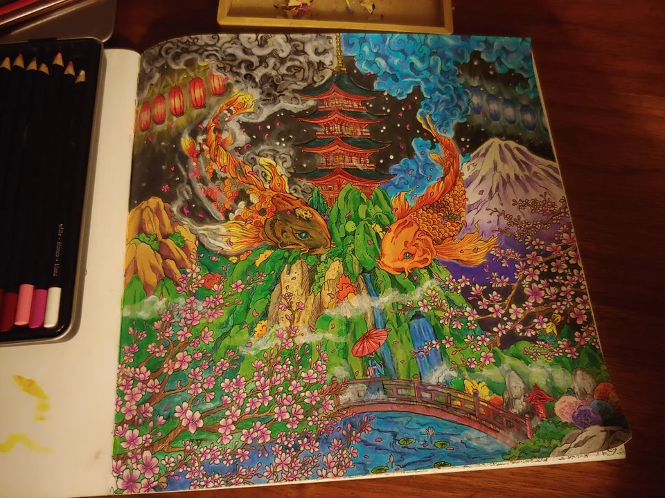 Some Fog From Geomorphia Coloring Book Colored By Redduck 614 Reddit With Images Coloring Books Coloring Pages Fog
