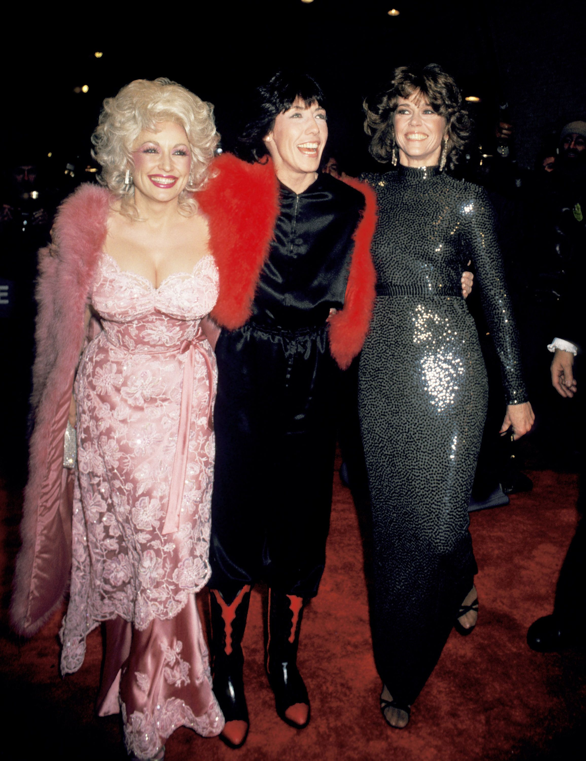 1980 Folly with Lily Tomlin and Jane Fonda at the 9 to 5 Premiere