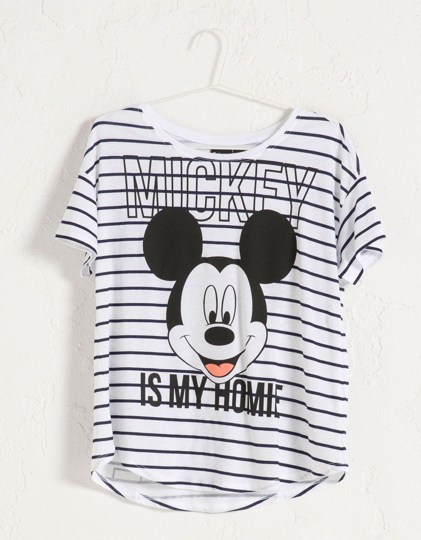551d7466d Camiseta Mickey BSK - Camisetas - Bershka España