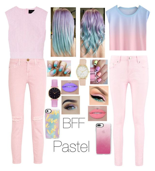 """Pastel"" by aleezak04 ❤ liked on Polyvore featuring Current/Elliott, Simone Rocha, Boohoo, Abbott Lyon, Nine West and Casetify"