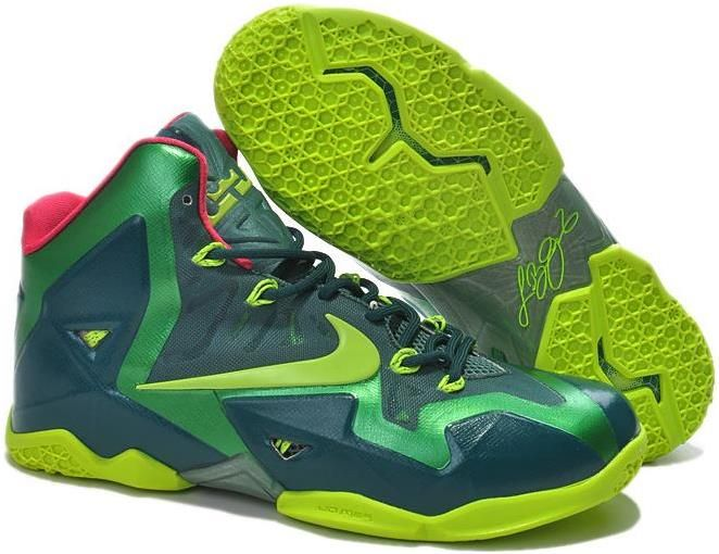 new style 58adc 3b77b Lebron 11 For Kids Navy Blue Green Pink