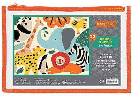 Amazon.com: Mudpuppy Zoo Animals Pouch Puzzle (12 Piece): Mudpuppy, Anna Kovecses: Toys & Games ...