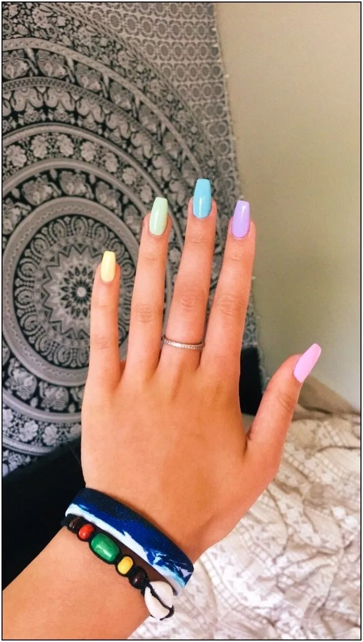 140 Wondrous Winter Nail Design Ideas For 2020 130 Cynthiapina Me In 2020 Cute Spring Nails Summer Acrylic Nails Short Acrylic Nails