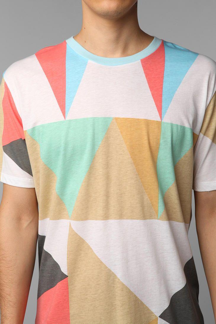 ebe44f922d3 Loyal Army Pastel Colorblock Tee #UrbanOutfitters o_O Camisetas, Estilo De  Hombre, Ropa De