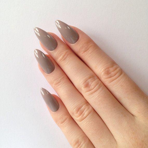 Mocha stiletto nails, Nail designs, Nail art, Nails, Stiletto nails, Acrylic nails, Pointy nails, Fake nails, False nails PLEASE NOTE