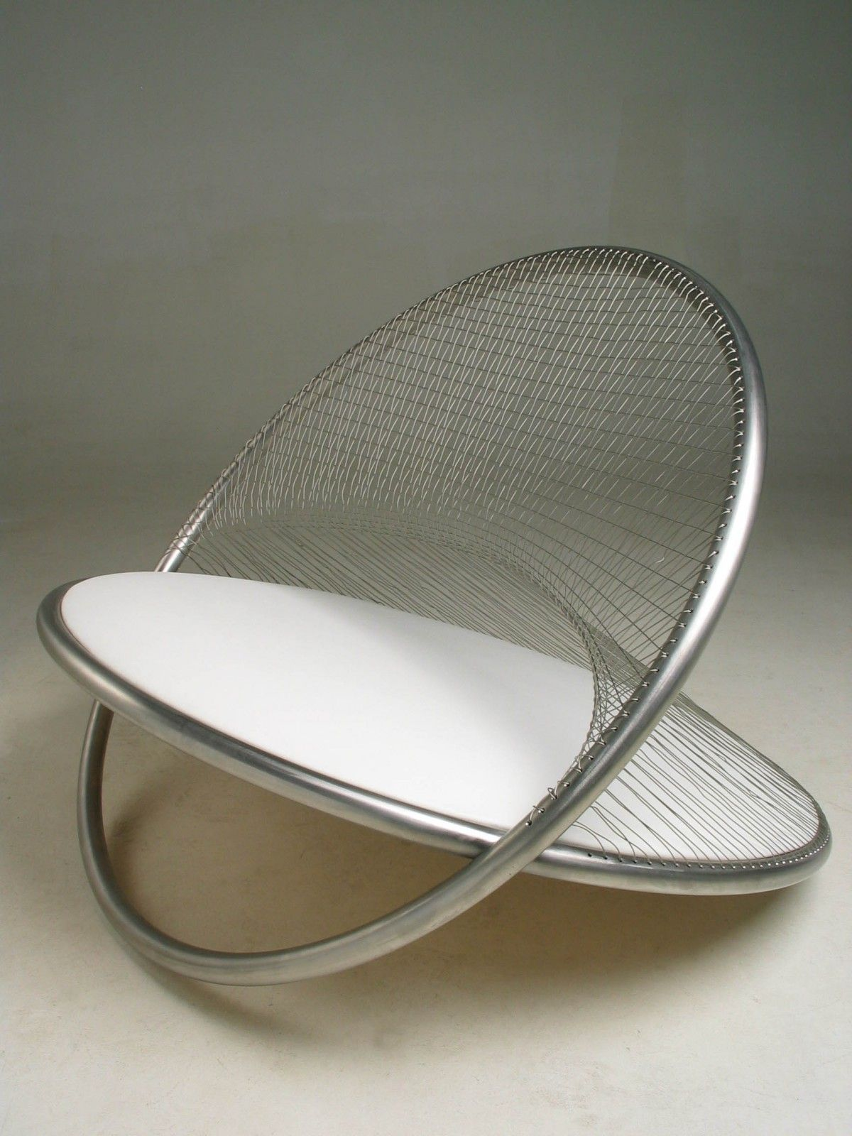 Gyro By Mathew Harding 2004 Stainless Steel Tube Weaving And Upholstery Seat Design Steel Furniture Stainless Steel Tubing [ 1600 x 1200 Pixel ]