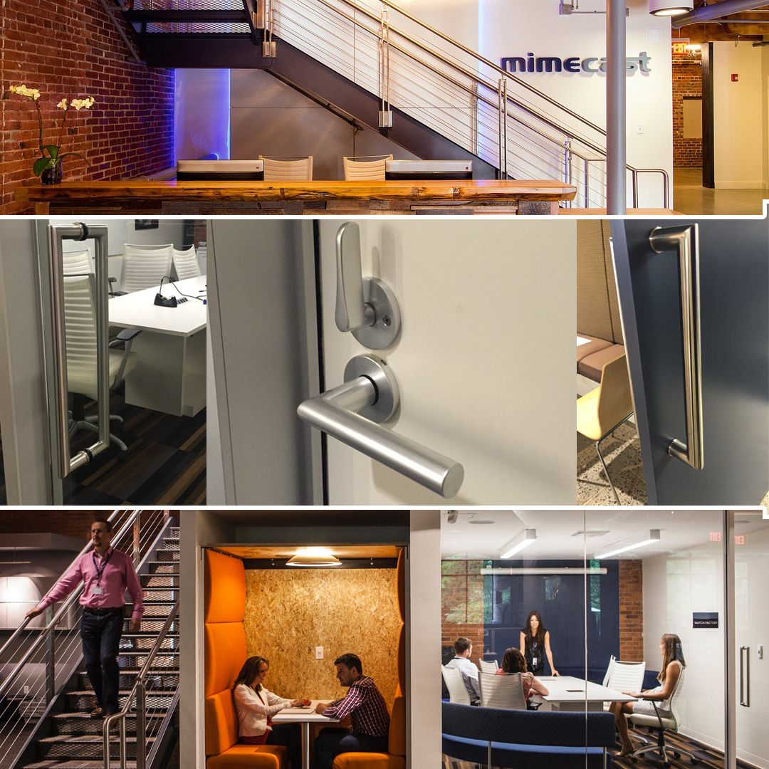Proud To Have Fsb Hardware Installed Throughout Mimecast North American Headquarters In Boston Fsb Door Pulls 6669 In Door Handles Door Pulls Door Hardware