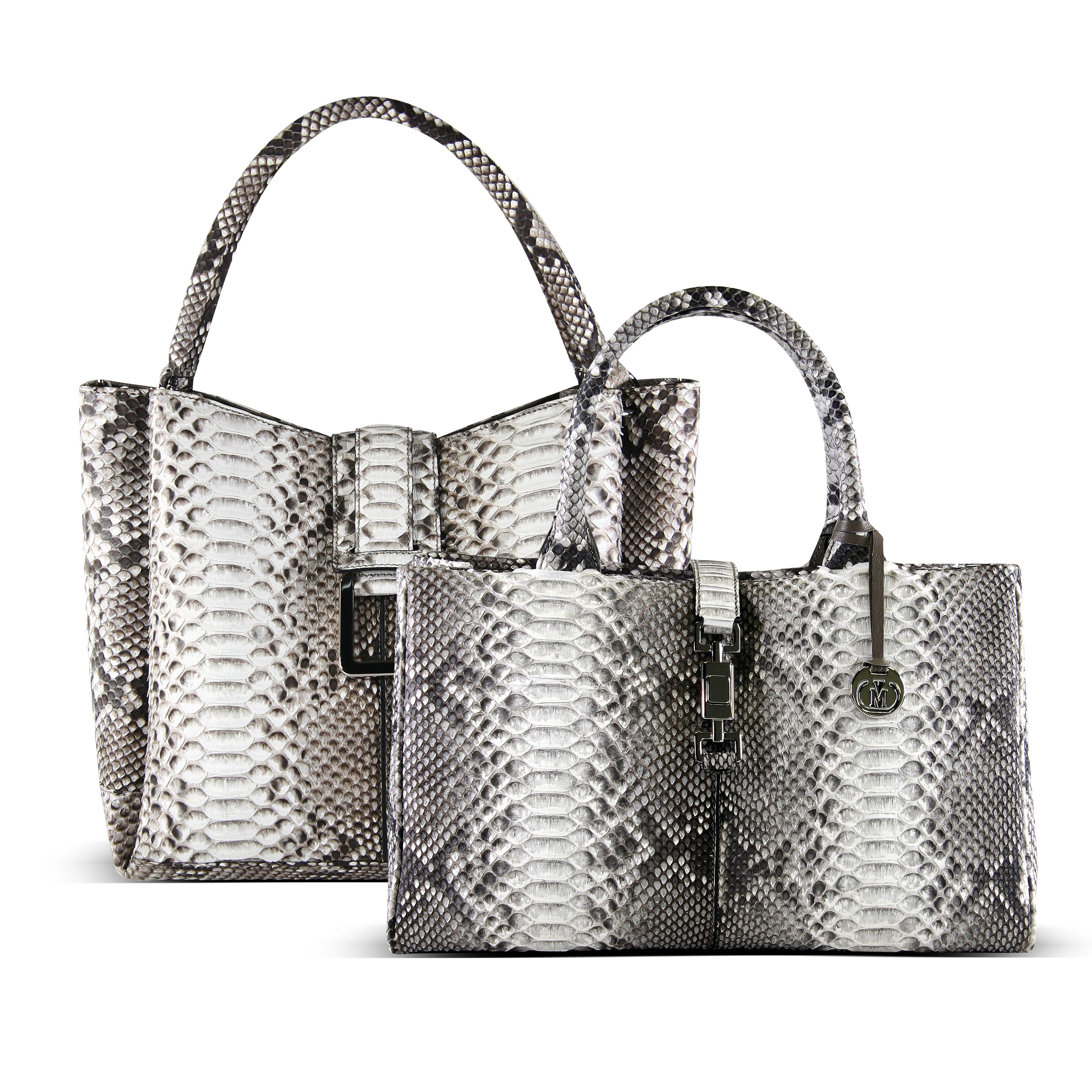 Via La Moda Genuine Python Handbags Vialamoda Getcarriedaway