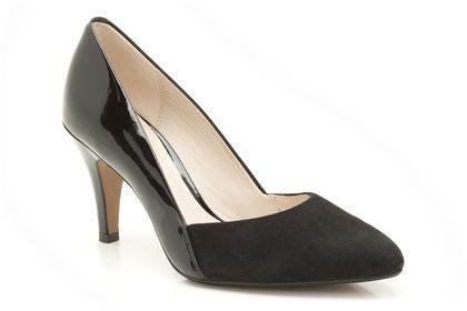 Womens Smart Shoes - Cedar Grove in Black Suede/Patent Leather from Clarks  shoes