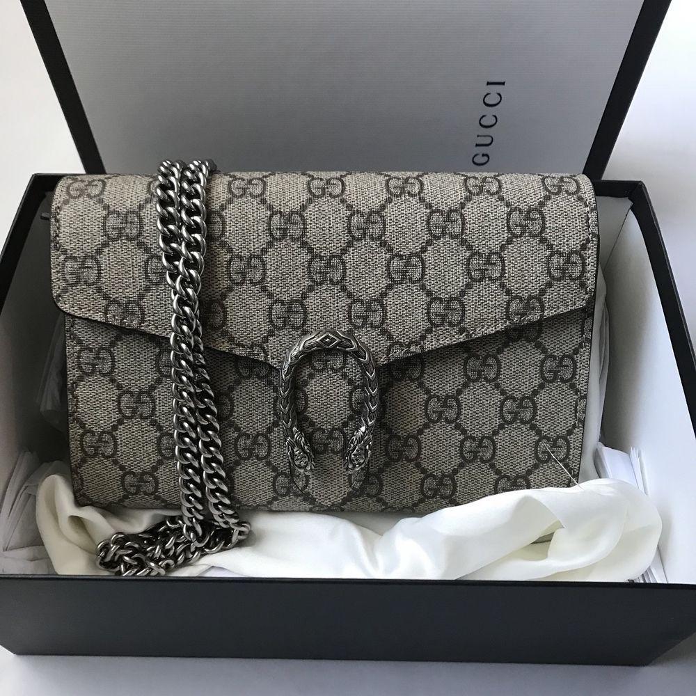 feb133837 Gucci Dionysus GG Supreme Canvas Wallet On A Chain Crossbody ...