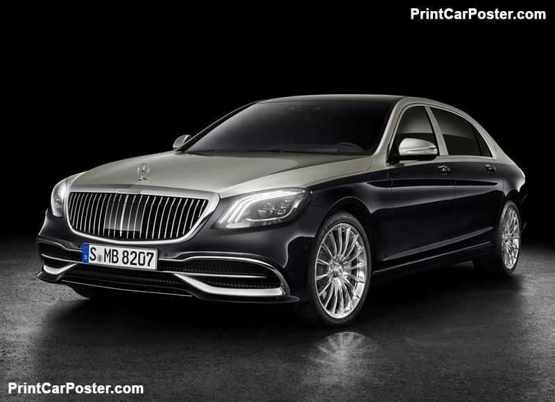Mercedes Benz S Class Maybach 2019 Poster Mercedes Benz Maybach