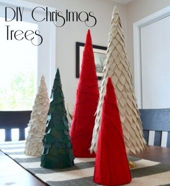 Diy Christmas Tree Cones Made From Poster Board Christmas Tree Crafts Christmas Tree Poster Christmas Centerpieces Diy