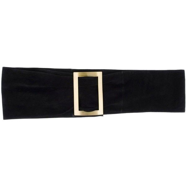 Black and red leather belt Philosophy di Lorenzo Serafini