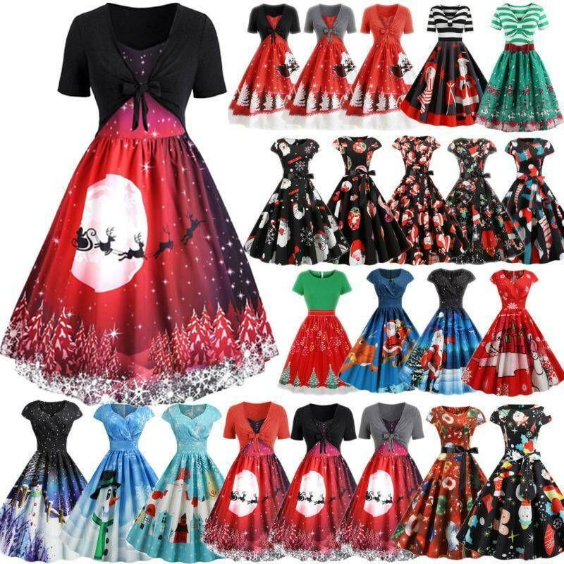 Swing Kleid Damen Minikleid Tanzkleid Petticoat Ballkleider