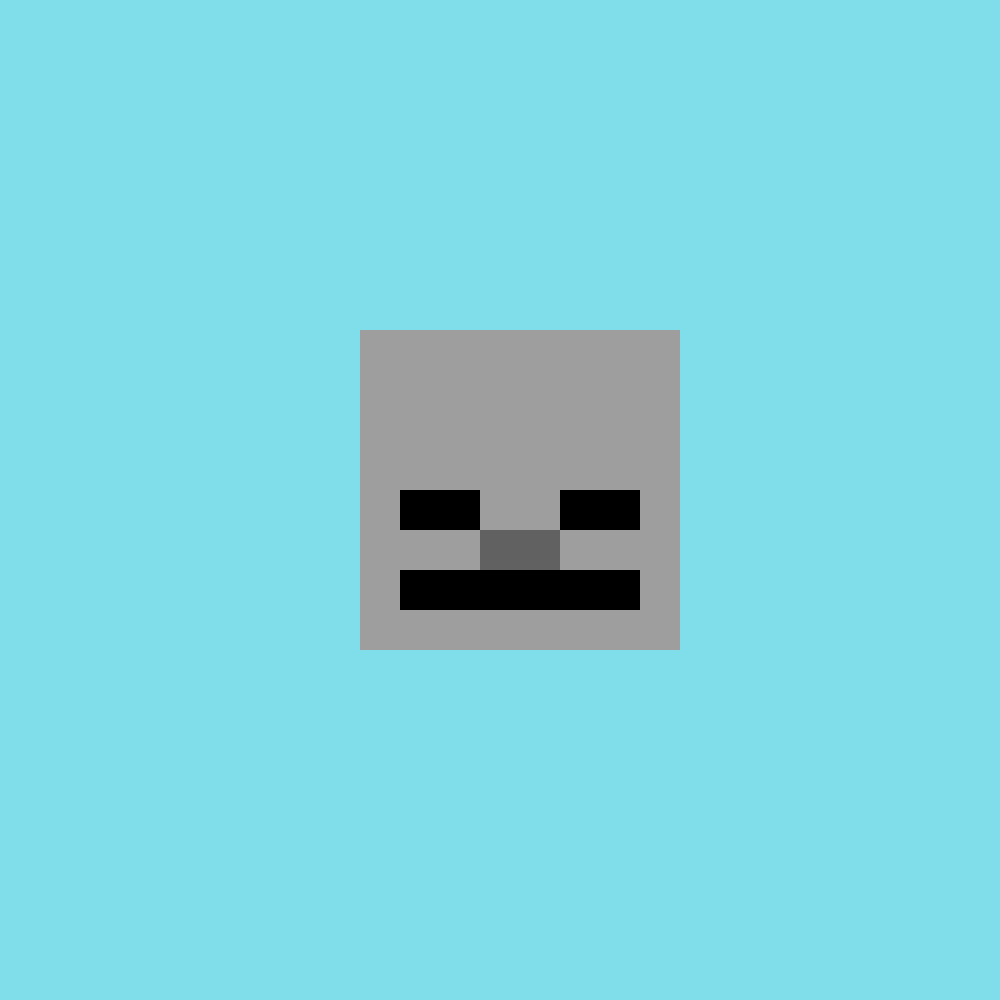 Pixilart Minecraft Skeleton Head By Kingoofnothing Minecraft Skeleton Color Palette Challenge Skeleton Head