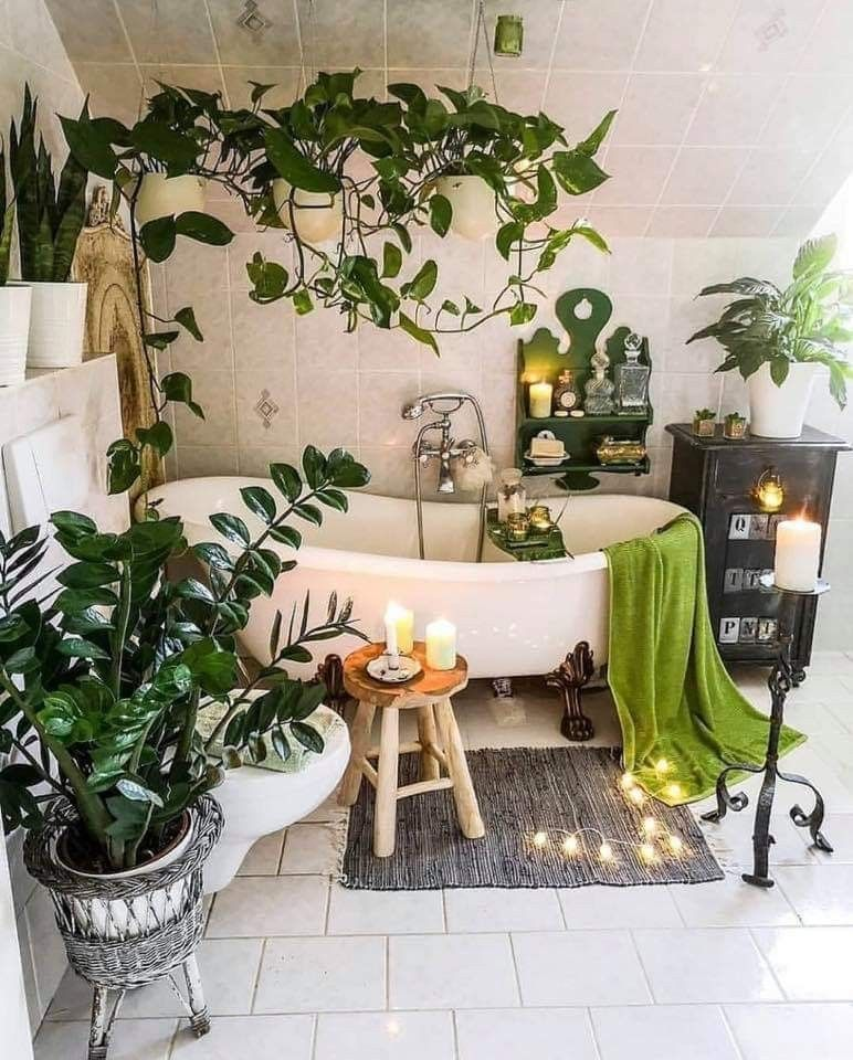 Plant Bathroom Plants Bohemian Bathroom Home Bohemian Home