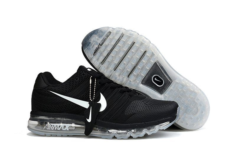 Nike Air Max 2017 Women Men Black White Sole KPU Shoes Cheap Nike