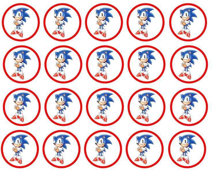 Sonic Cupcake Toppers Sonic Birthday Sonic Birthday Parties Sonic Party