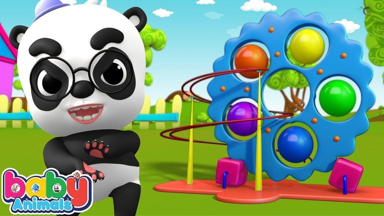 Angry Baby Panda Attack Baby Animals with Magic Fireballs | Learn Colors... #babypandas