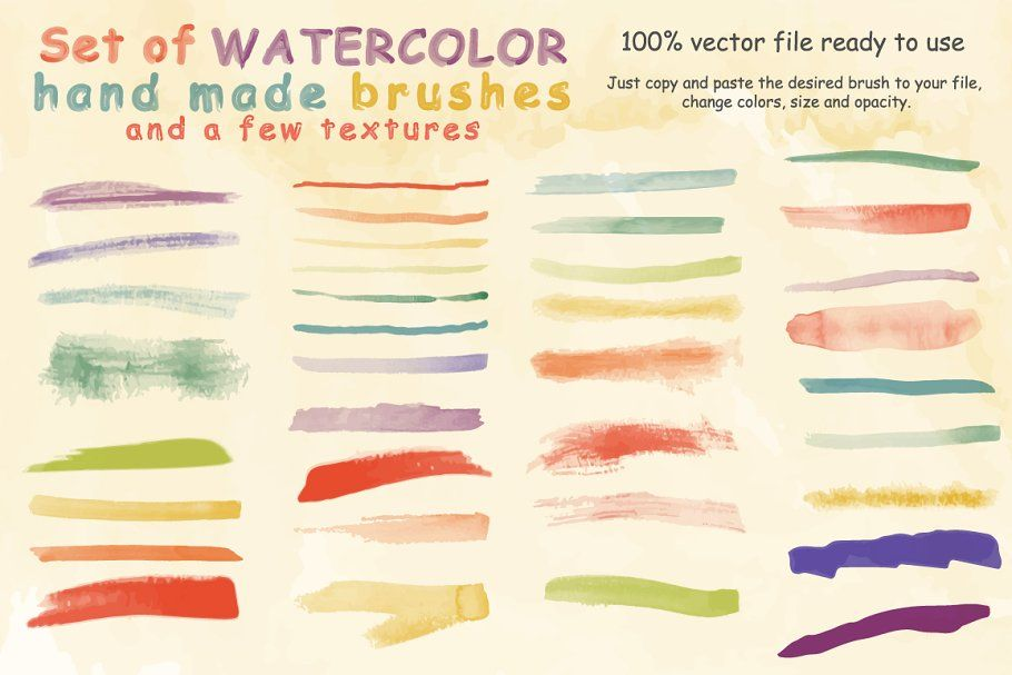 Watercolor Brushes And Textures Watercolor Brushes Textures