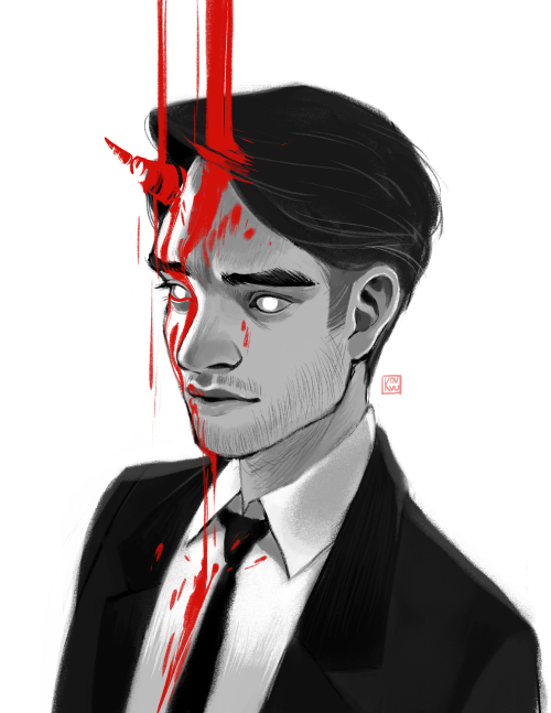 kovvu:  Daredevil drawing inspired by the opening