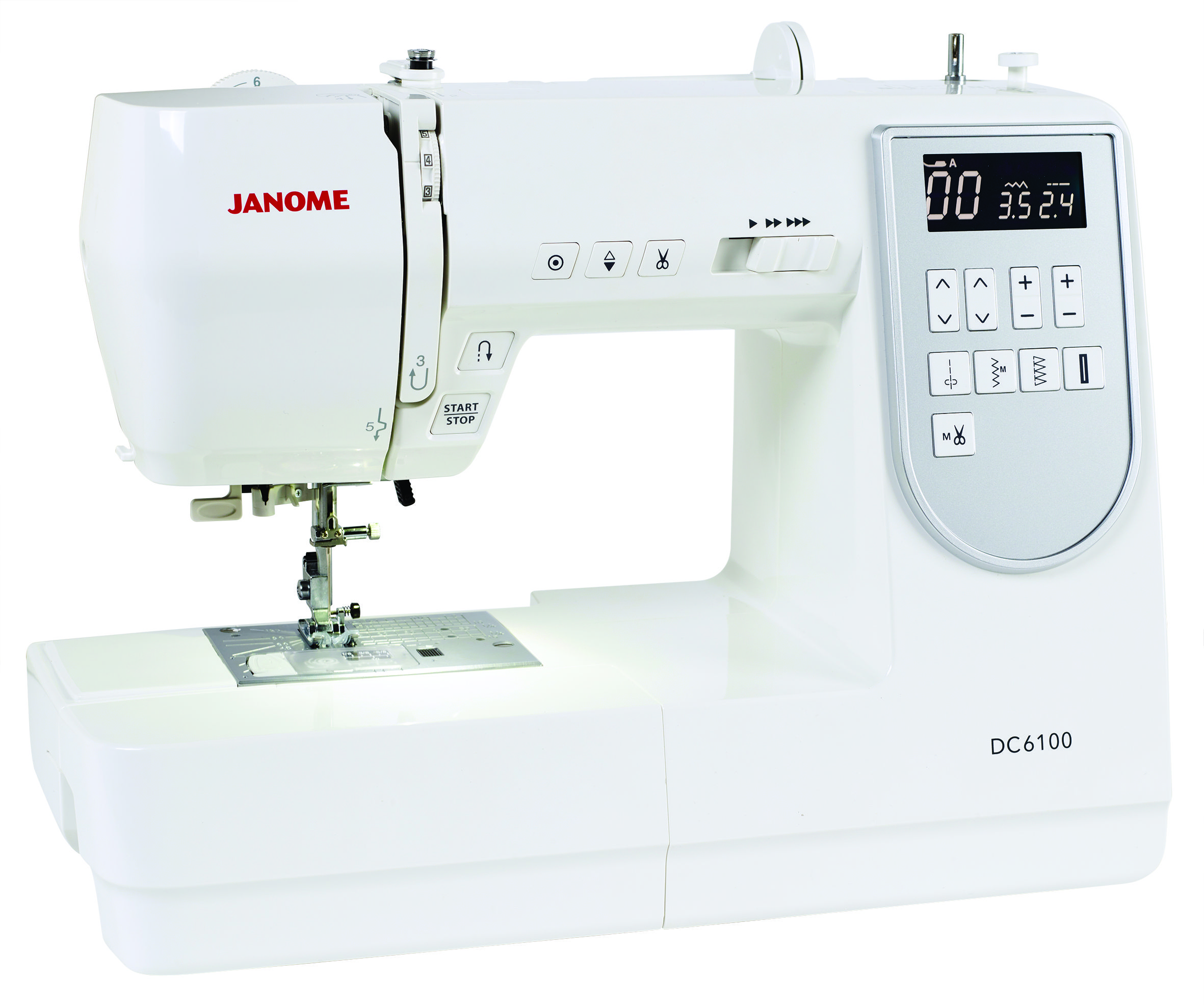 The Janome DC6100 has all the great features to make