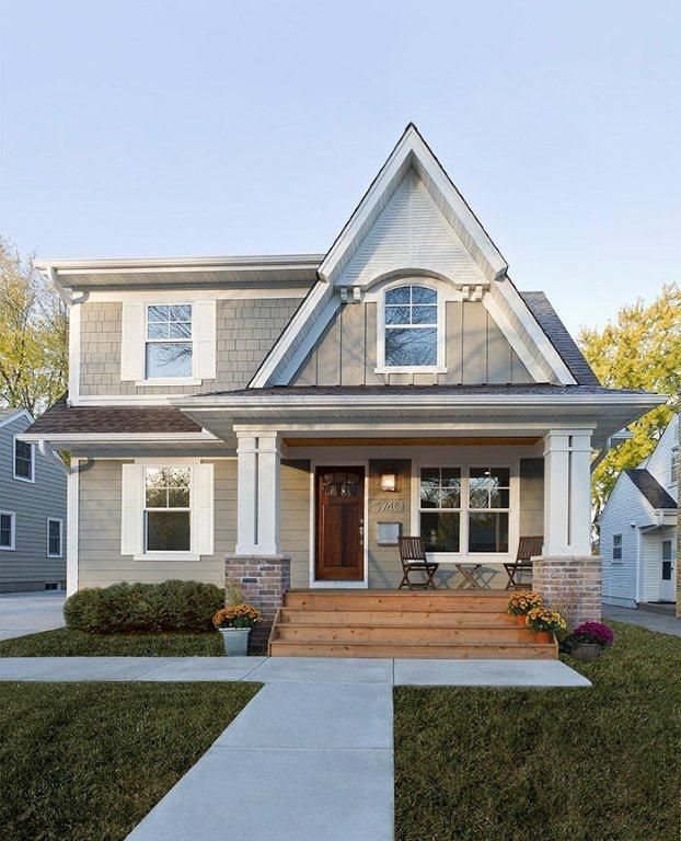 Traditional Exterior Homes: Craftsman Style But High Pitched