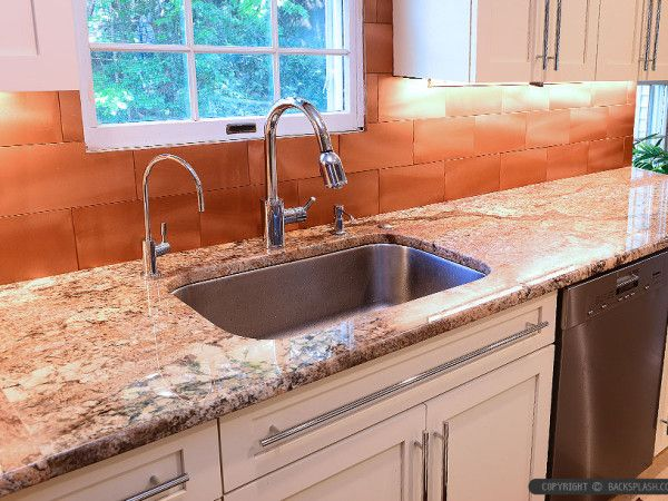 Typhoon Bordeaux Countertop Copper Kitchen Backsplash Tile