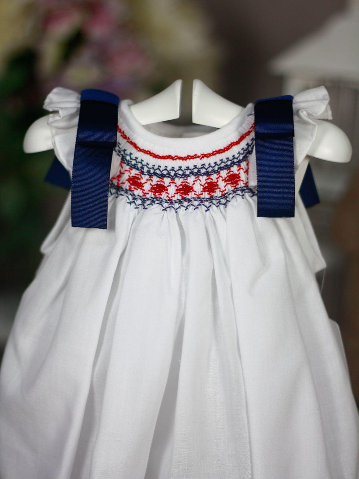 Fabrica vestidos punto smock mexico