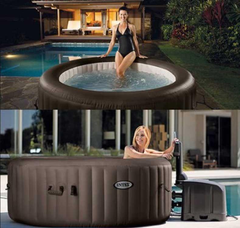 Portable Hot Tub Walmart Jet Massage Spa Set With 4 High Powered