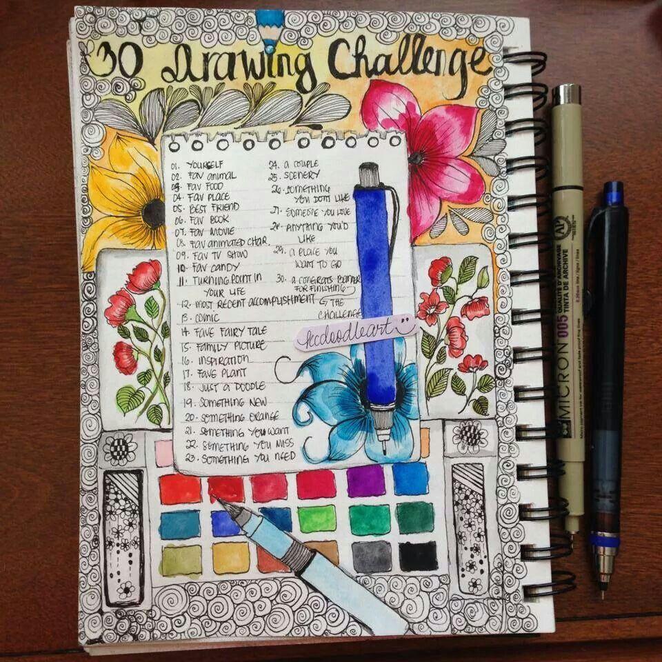 30 day challenge | Art journal, Art challenge, Challenge ...