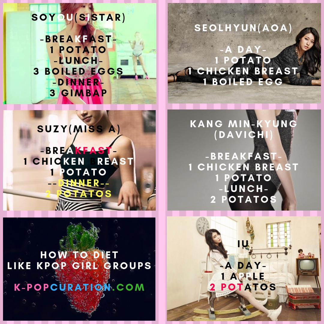 Extreme Kpop Diet Plan How To Diet Like Kpop Girl Groups Kpop Diet Diet Diet Motivation