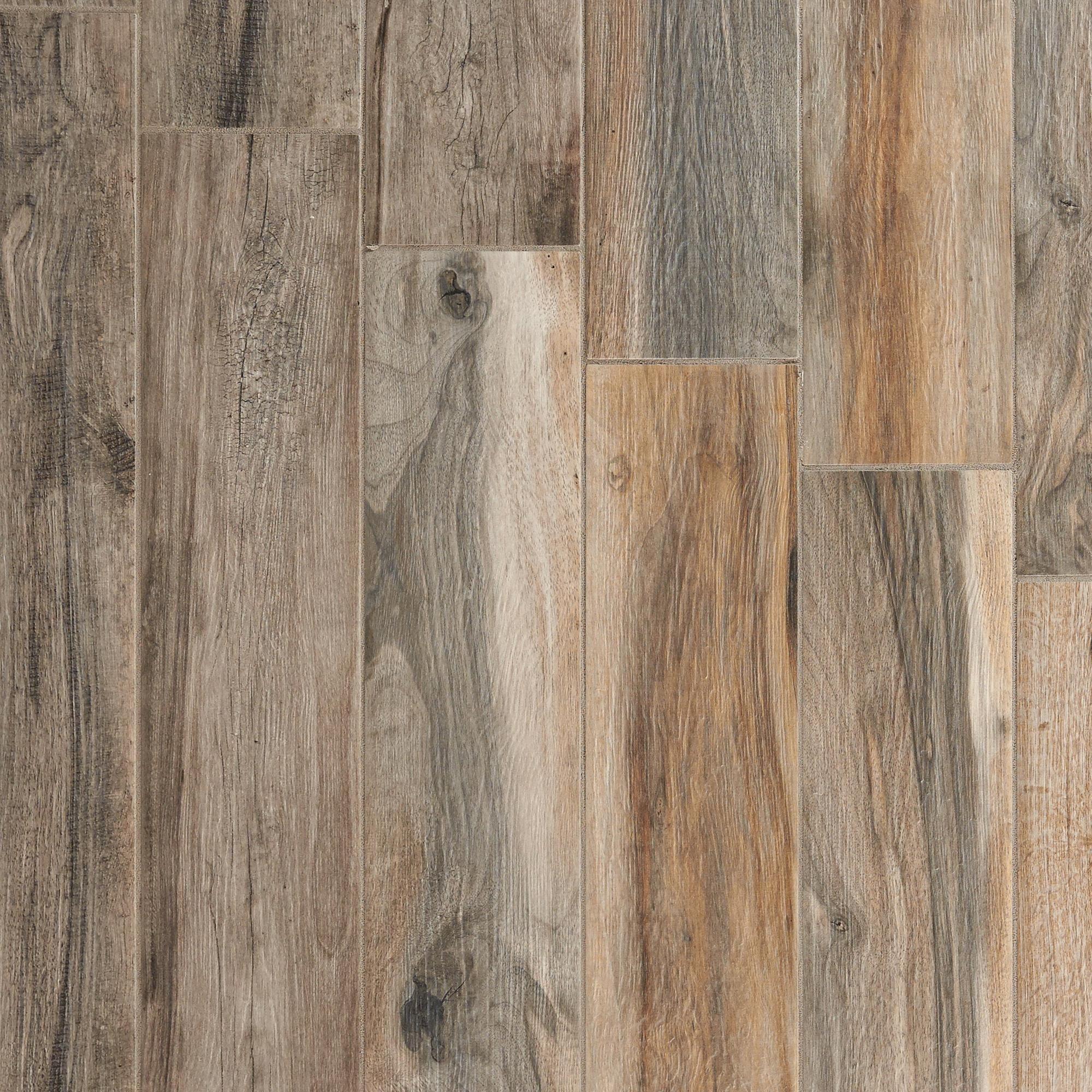 Soft Ash Wood Plank Porcelain Tile Floor & Decor