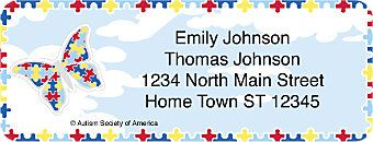 Autism Imagine Return Address Label