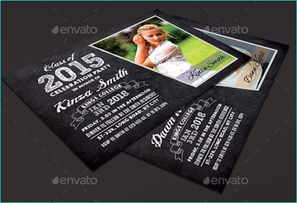 Graduation Party Invitation PSD For The Class Of - Party invitation template: graduation party invitation postcard templates free