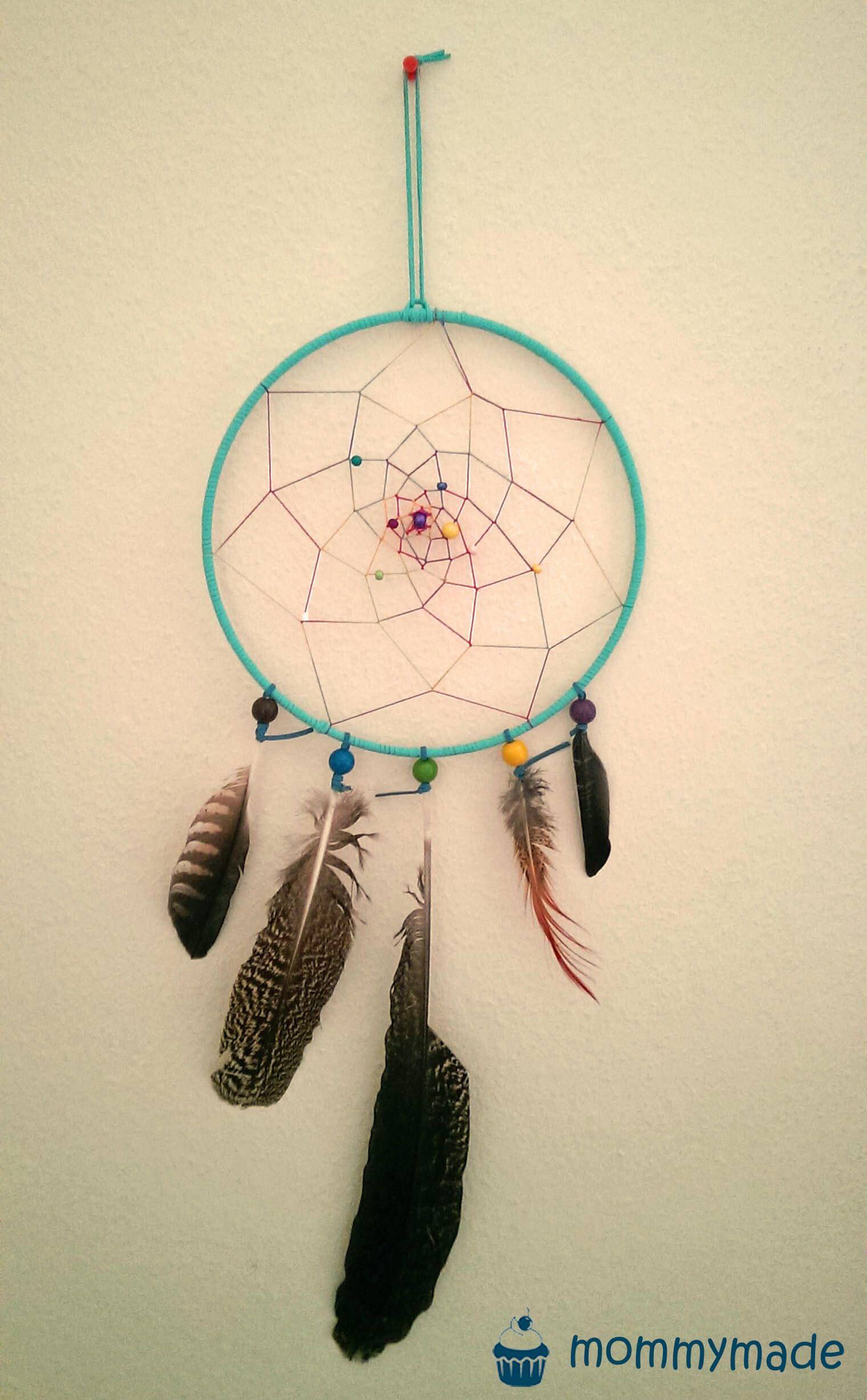 Magie & Hexerei Bastelset Traumfänger bunt 10 Stück Dreamcatcher Indianer Federn Perlen