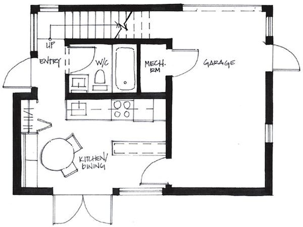 Favorit Minihaus Grundriss EG | Tiny house | Grundrisse kleiner häuser IR09
