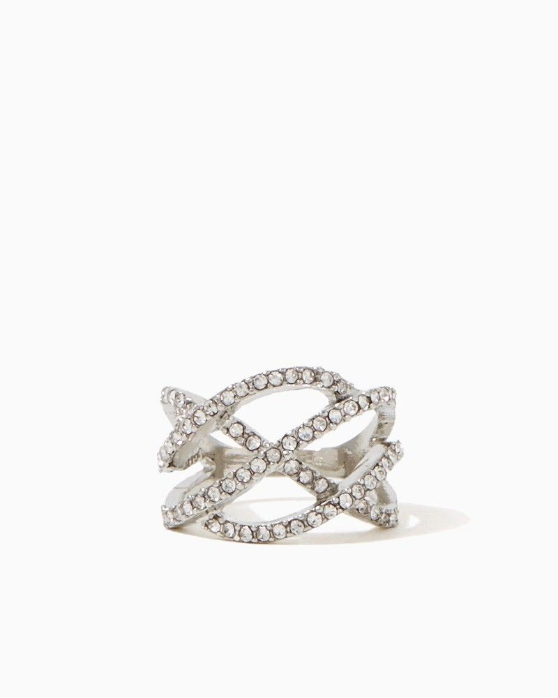 charming charlie | Pavé Cross Wave Ring | UPC: 400000105437 #charmingcharlie