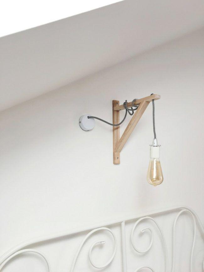 Gluehbirne Lampe Pendelleuchte Schlafzimmer Deko Selbermachen Holz  #LampSchlafzimmer